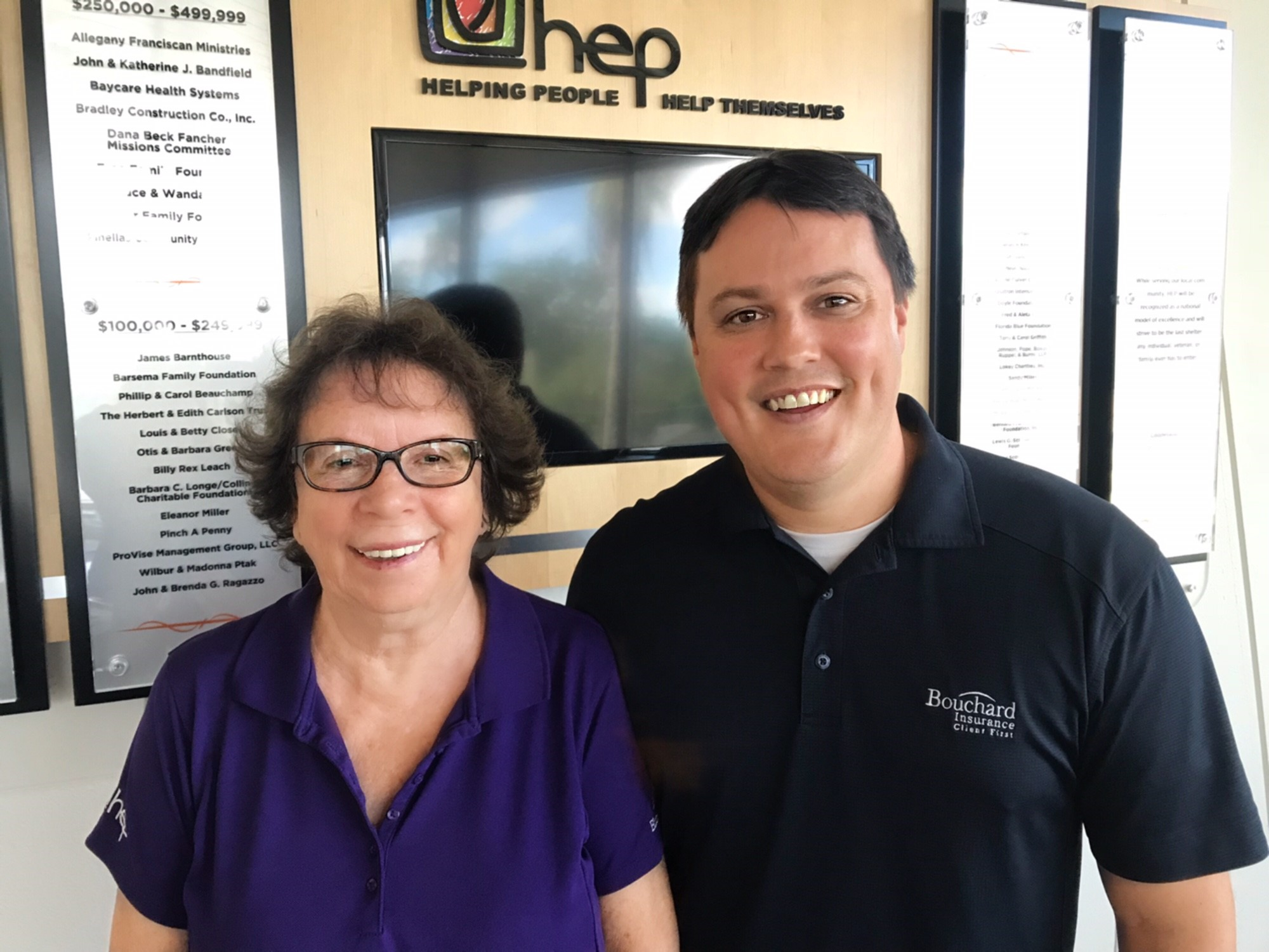 Adam with HEP founder, Barb Green.