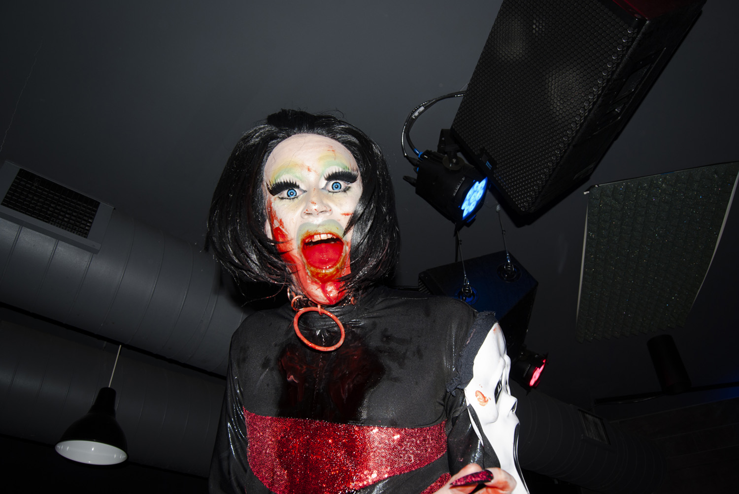 Casey No,  Mary Fagdalane covered in blood while performing , November 2018