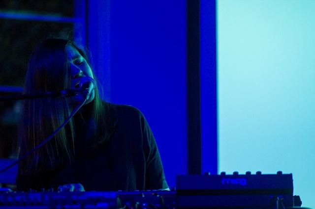 Performance shot from Julianna Barwick/MAS YSA, photo by Kurt Nettleton.
