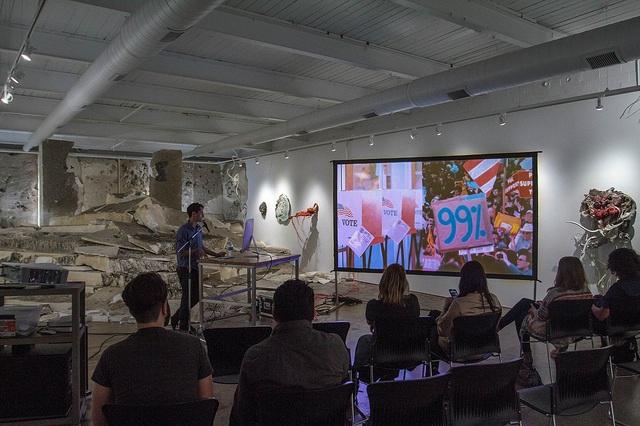 Presentation shot from Ben Valentine's talk, photo by Kurt Nettleton.