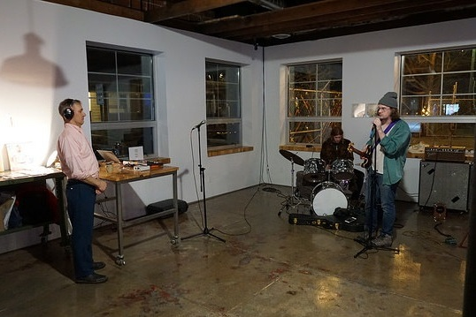 Performance shot from Calvin Johnson: First Friday, photo by Kurt Nettleton.