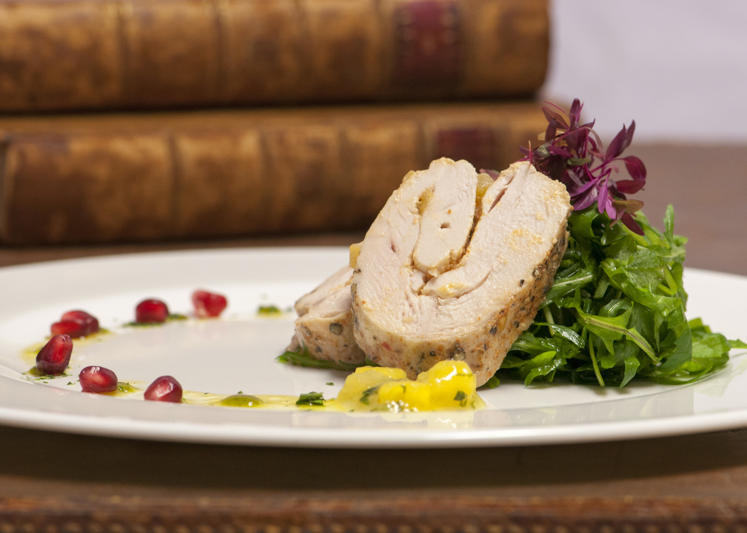 CHICKEN ROULADE WITH MANGO SALSA