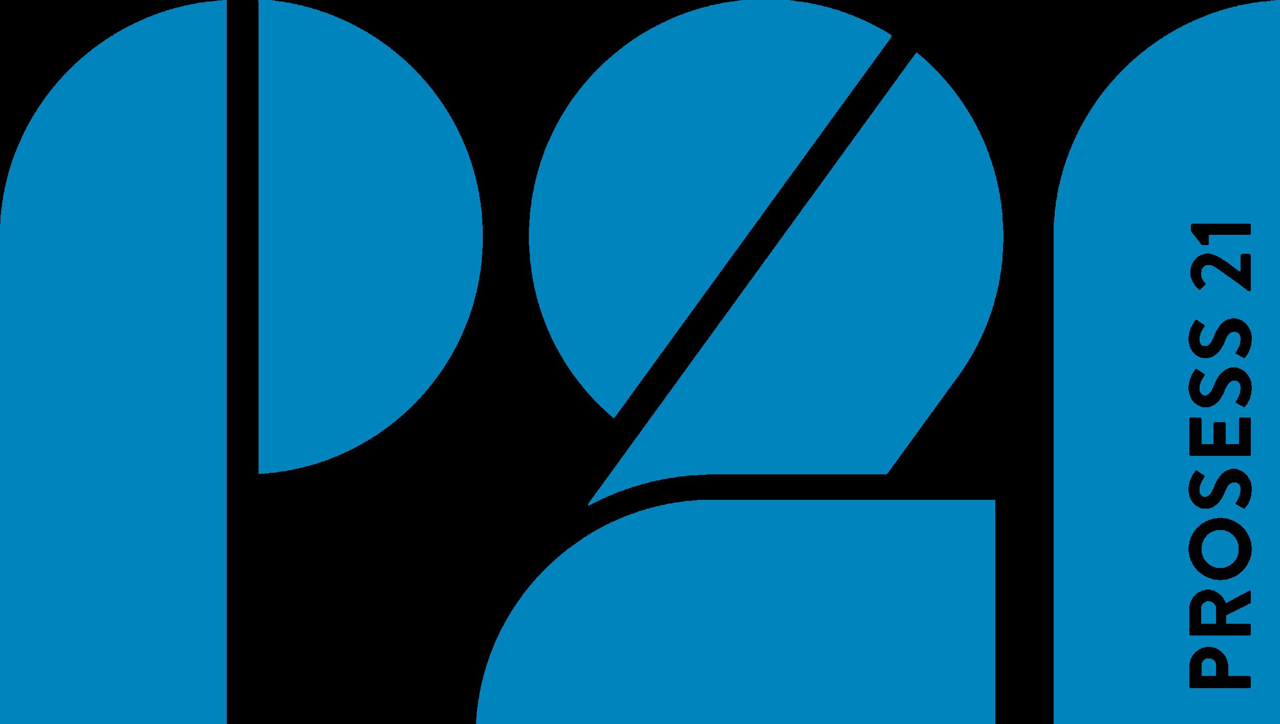 Prosess 21 logo blå