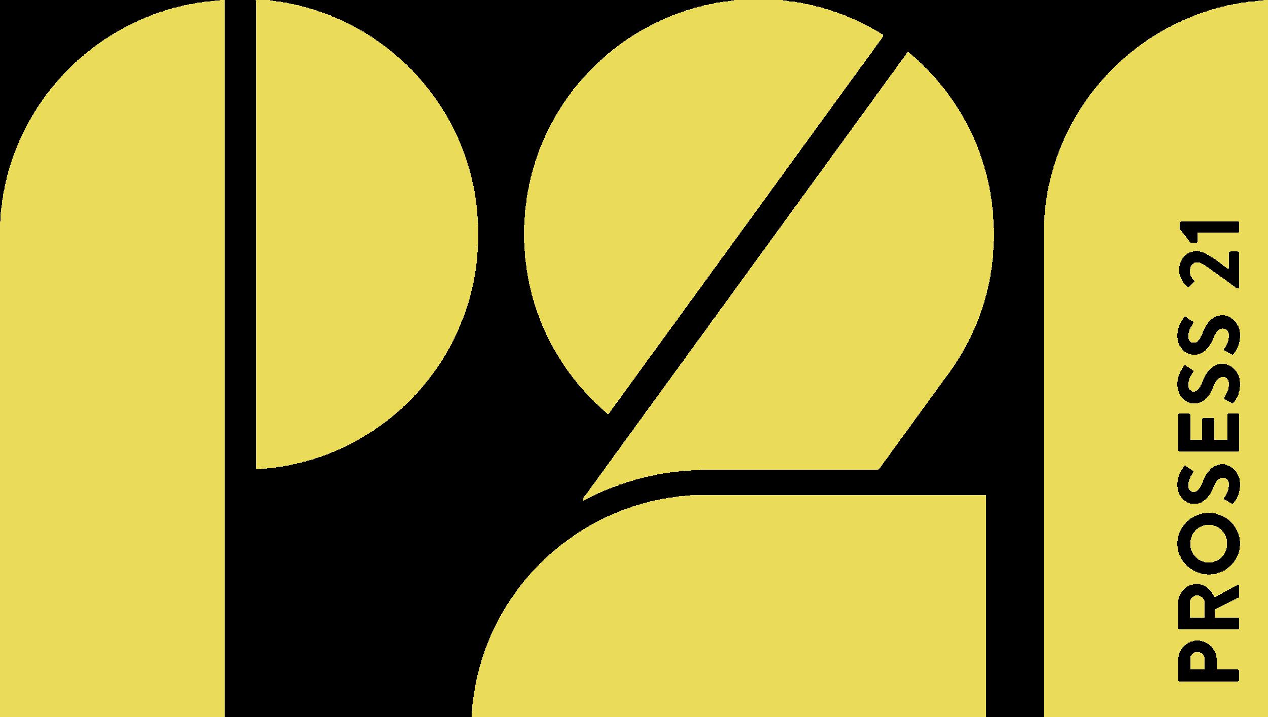 Prosess 21 logo gul