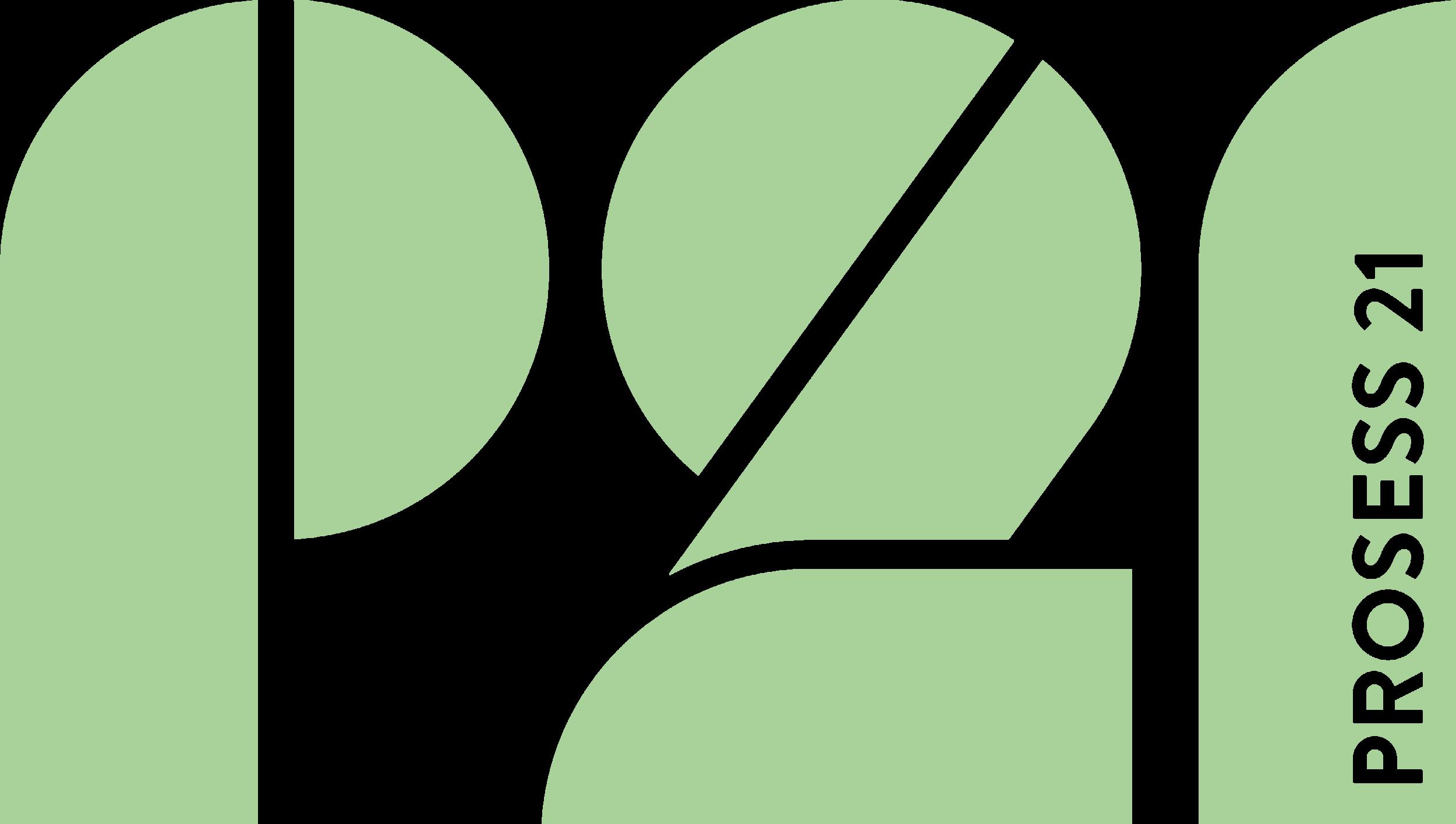 Prosess21 logo light green