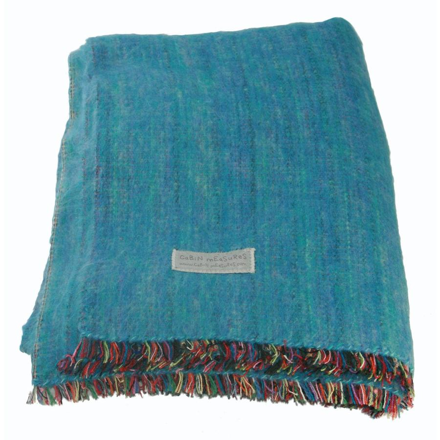 Beautiful 100% Alpaca Full-Size Blanket In Turquoise