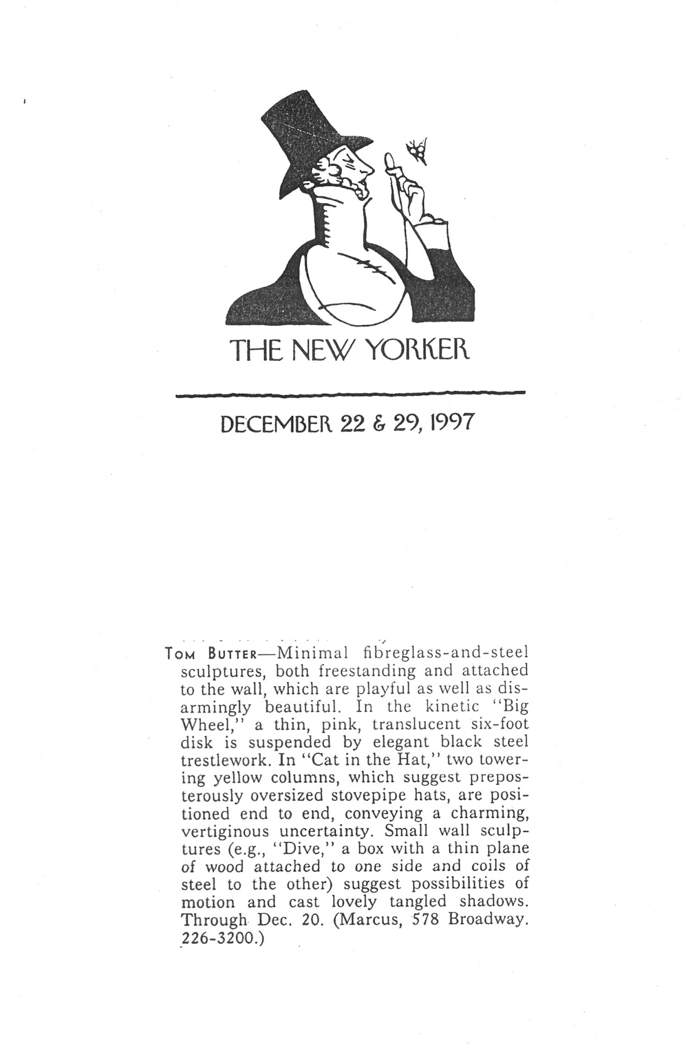 THE NEW YORKER: JANUARY 29, 1997