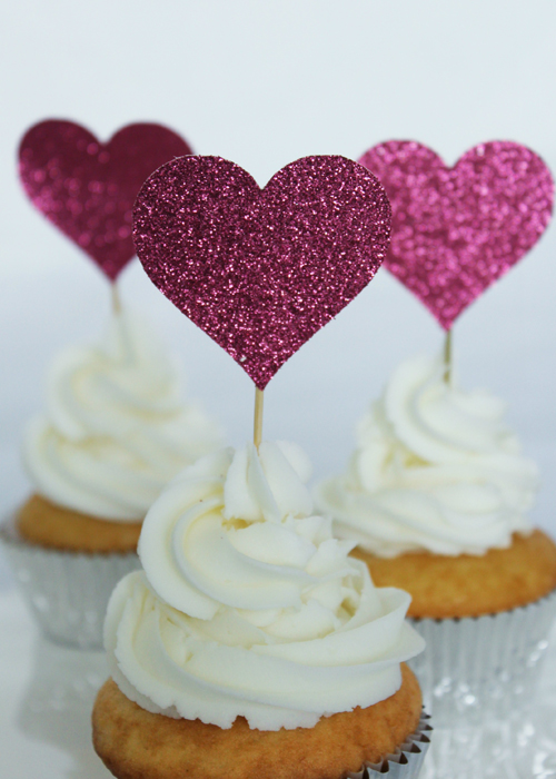 Cupcake Topper - Hearts (2)