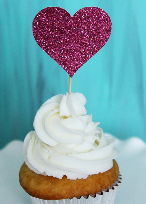 Cupcake Topper - Hearts (3)