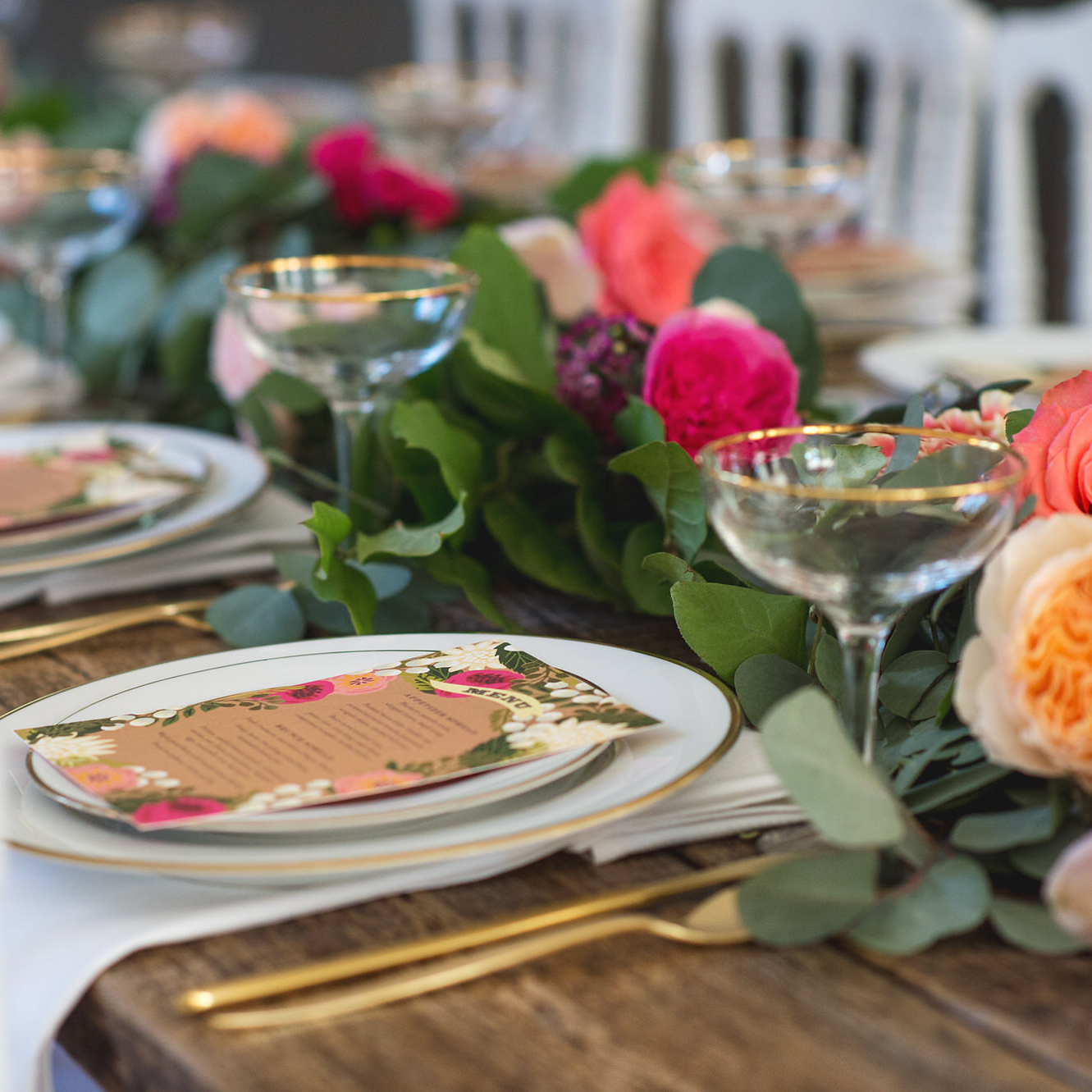Whimsical & intimate garden brunch - May 2015