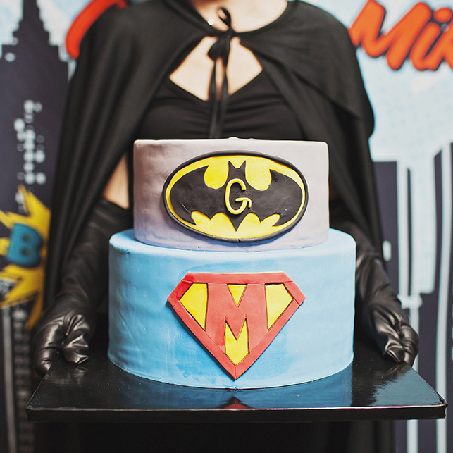 joint superhero birthday party - October 2014