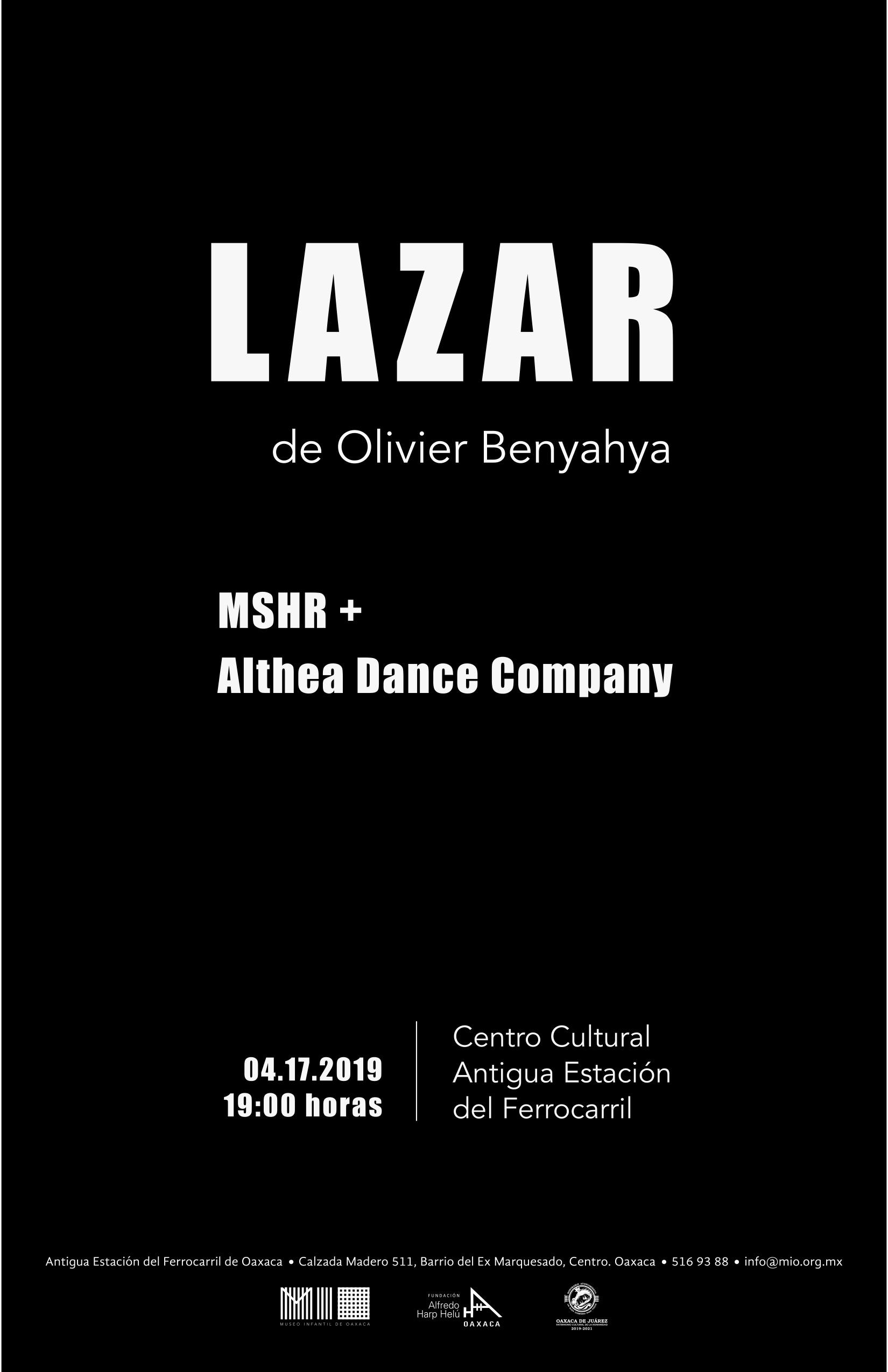 LAZAR - Dancers: Geovanni Ortega, Thea BautistaChoreographer: Thea BautistaText and Voice: Olivier BenyahyaMusic: MSHR Art Collective2019