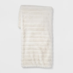 Texture Faux Fur Throw - $23 - Cozy, soft and perfect for the rainy & cold seasons.