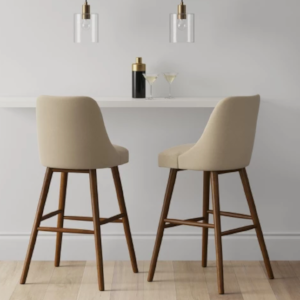 Gellar Modern Barstool - $105. - Ultra comfy with a gorgeous woven texture and warm wood legs.