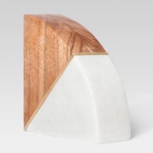 Marble and Wood Bookend - $15. - Classy & perfect to add a little life to your bookshelf.