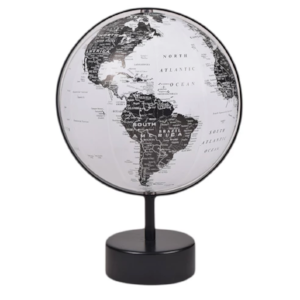 World Globe Black & White - $16. - Plan your next trip and add it to your desk for a touch of modern decor.