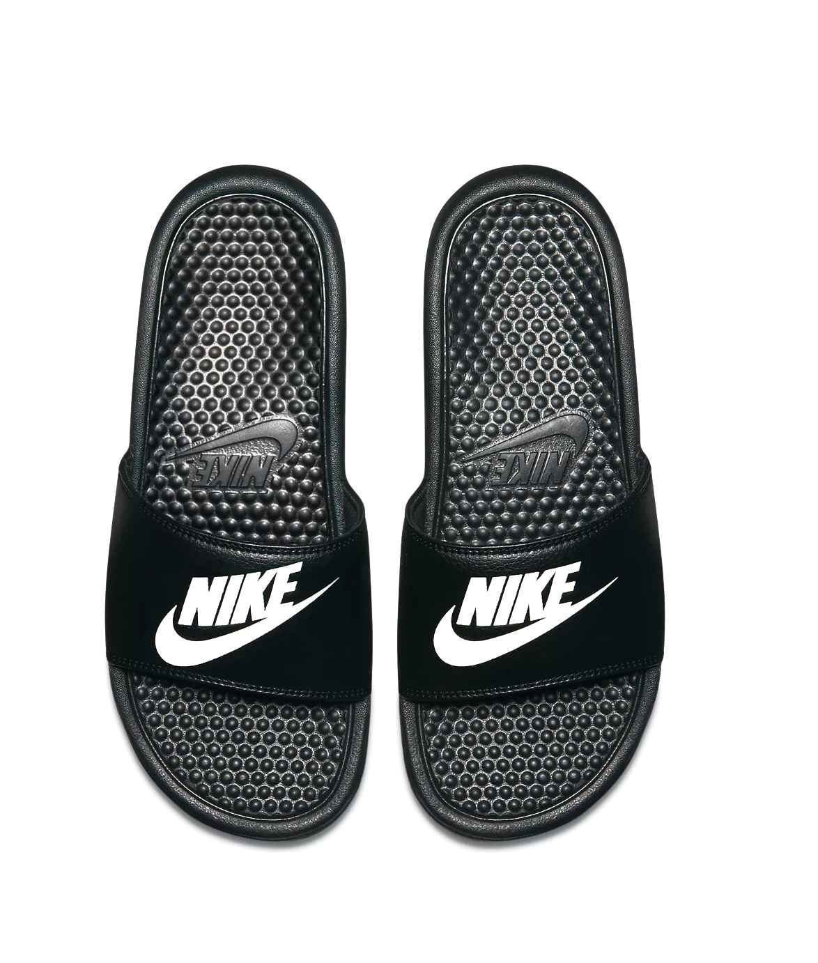 SLIDES - It's always s nice to have a pair of slides in your bag for pre and post workout. The Nike Benassi Slide is our favorite. Comfy and cute.