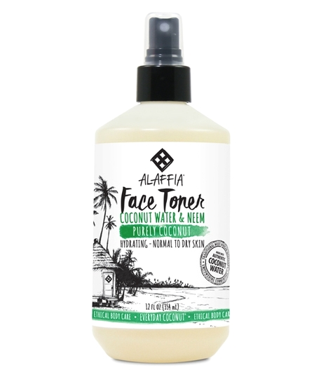 FACE SPRAY/TONER - Alaffia Coconut Water Toner is the best for a nice mist for refreshment before or after your workout.