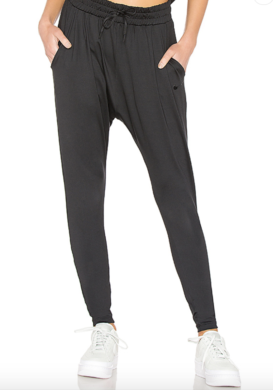 Nike Flow Pant - $80 - Soft, flattering, cozy & dri-fit. These pants are our go to for the ultimate comfort. Great for lounging, lifiting, travel, or a yoga/pilates workout.