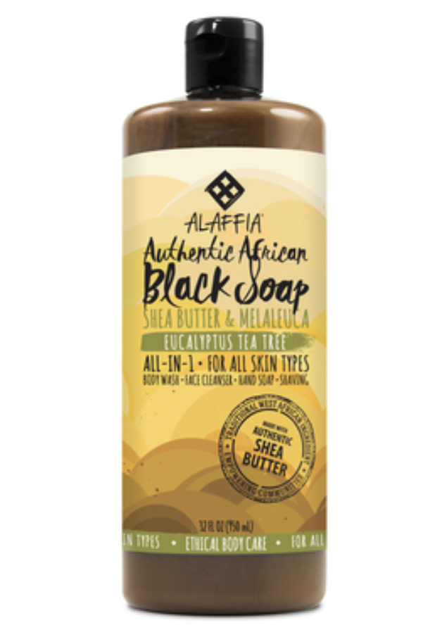 African black soap - Purify your skin and soften it up with this great body wash that has been proven effective for many centuries. The big bottle of Alaffia's Eucalyptus Tea Tree for $17 is a Duvei favorite.