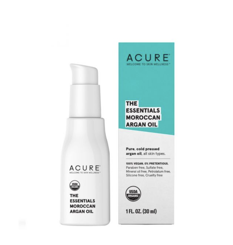 """Acure Argan Oil - Argan oil is a medicine cabinet staple. And this one is all you need. Keep your skin like """"liquid gold."""" $10 on Amazon (also sometimes found at TJ Maxx)."""