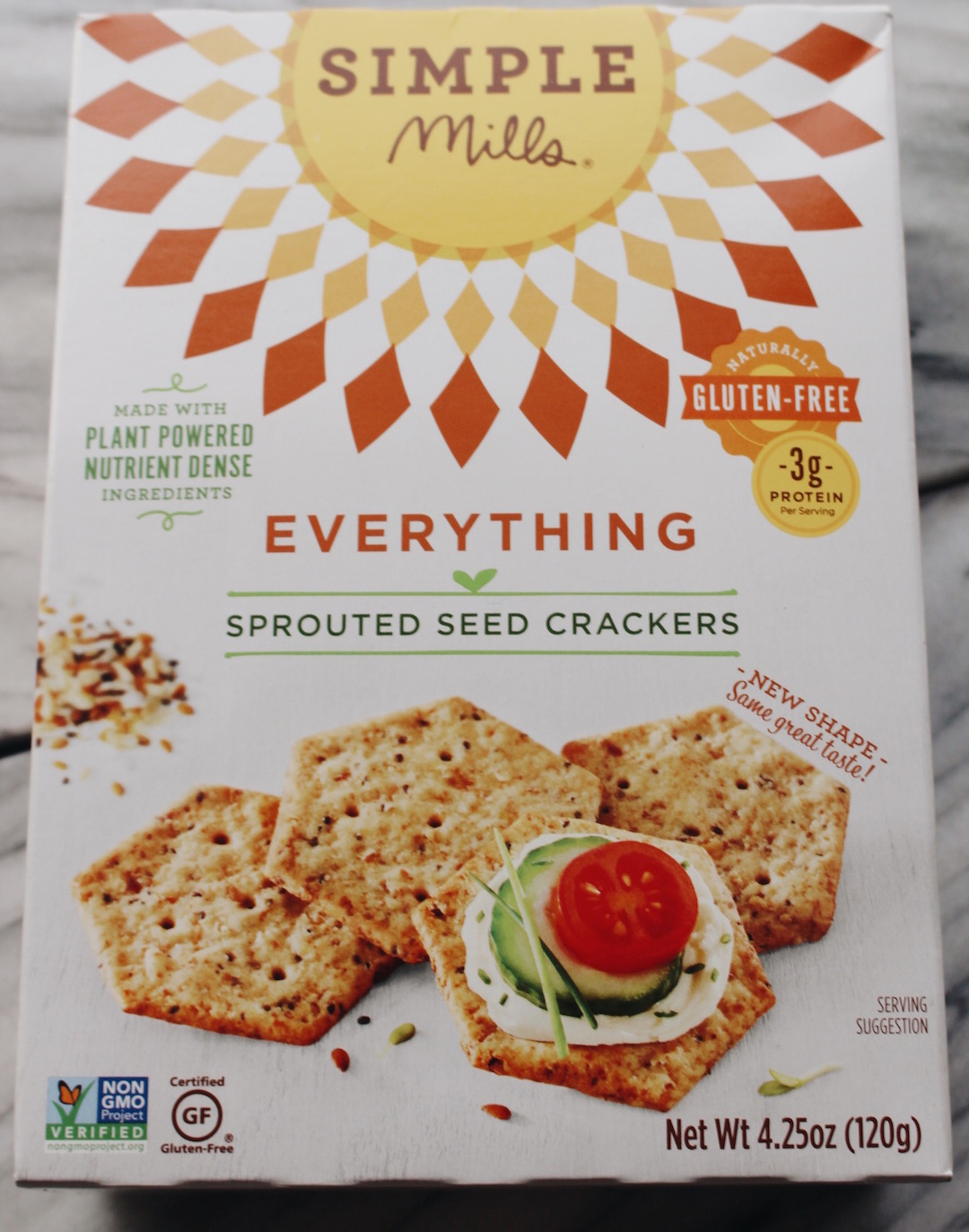 Crackers - These Simple Mills almond flour crackers are so tasty and totally good for you. These are high in Omega-3's, Vitamin E, protein, and Maganese. Make yourself a snack plate at work by packing these with an apple and your favorite cheese. Who says you can't get a little fancy at work?