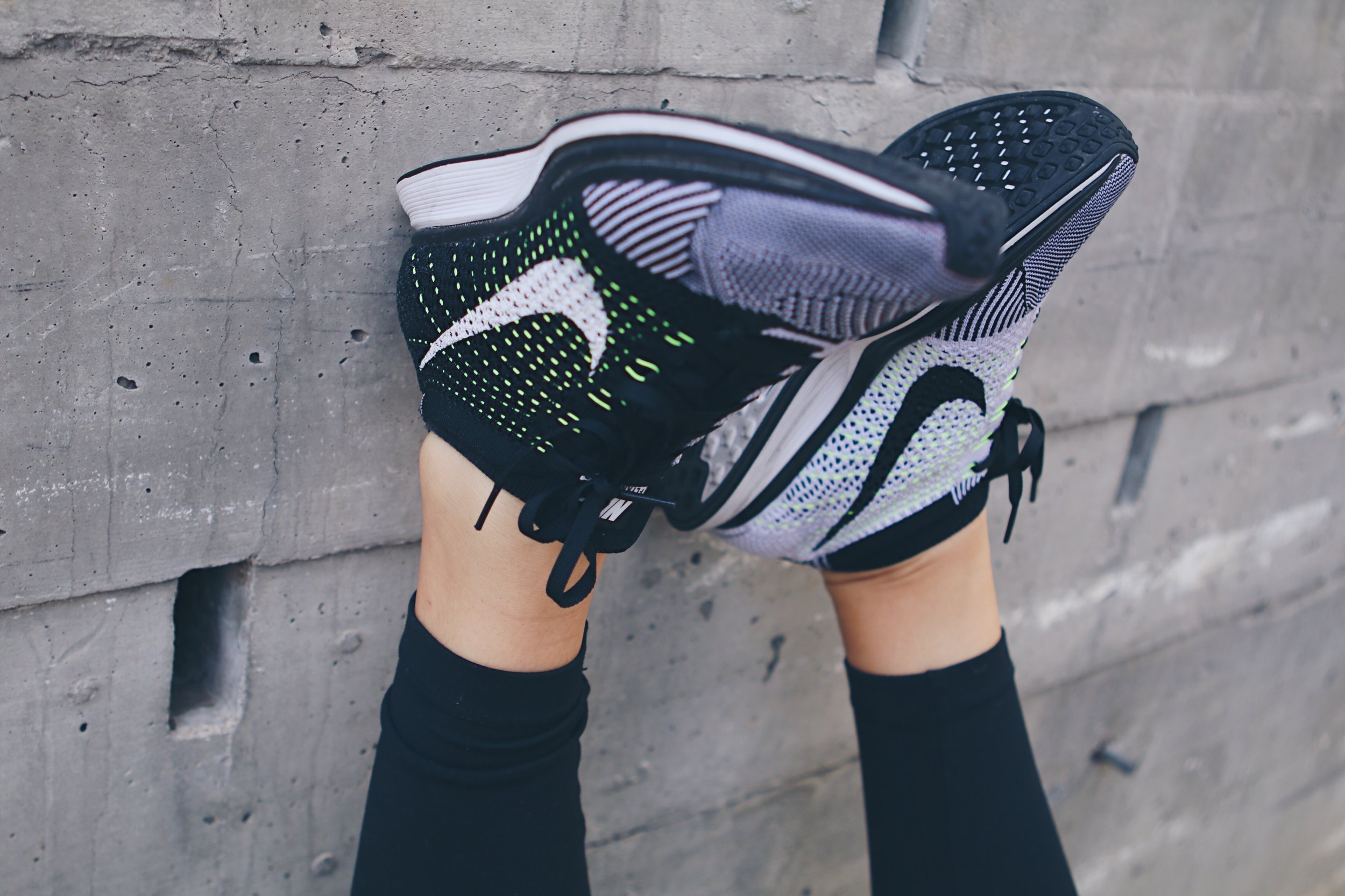 Nike Flyknit Racer - This shoe is light, breathable and suitable for a run or even a long day of adventuring. Pairs with your favorite tights or your favorite denim. ($110-$150)