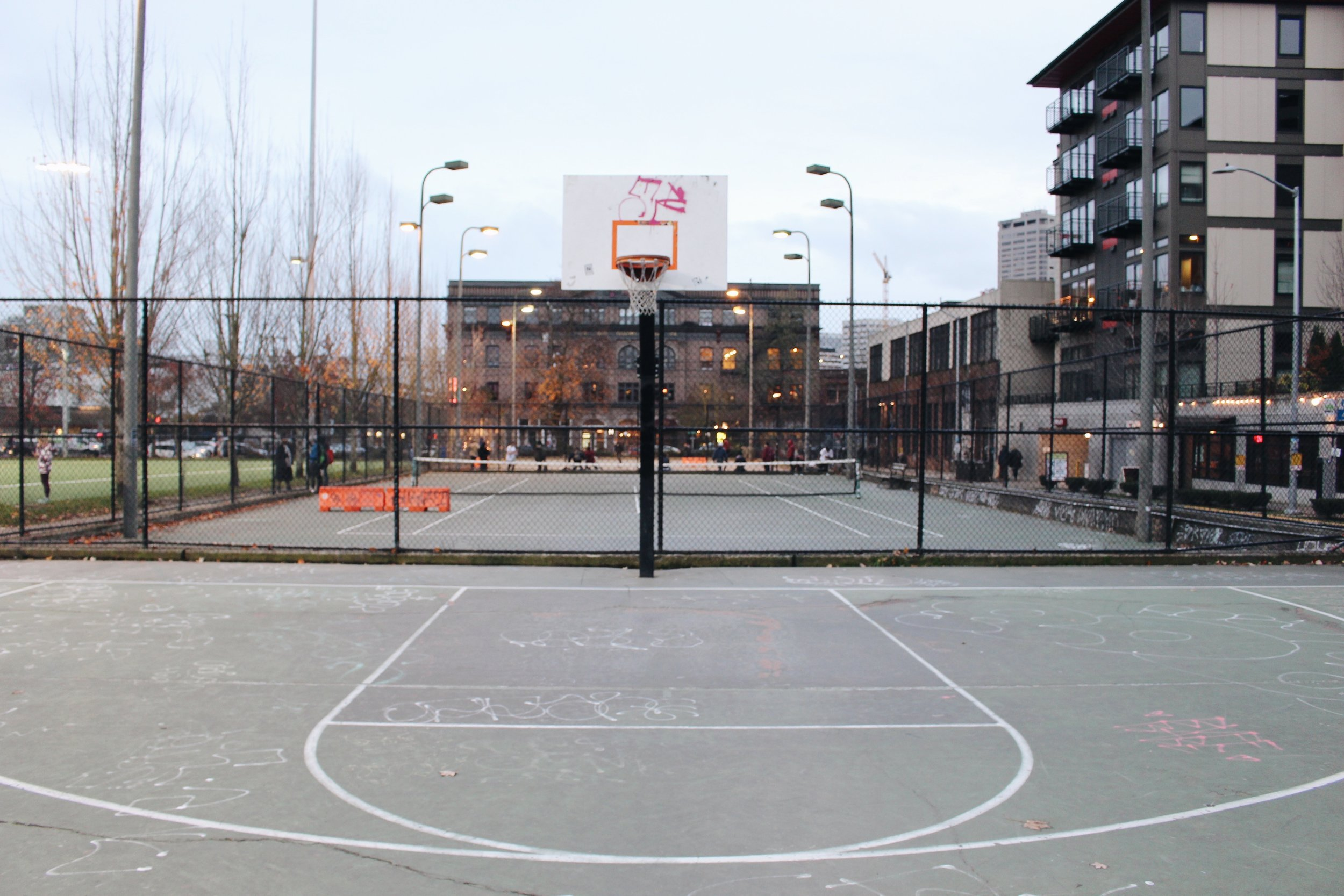 SPORT - Find a local park or court. You can burn anywhere between 250-350 calories by playing basketball or even just shooting hoops for 30 minutes and it's much more fun than being on a machine at the gym. Check our local listing for parks. (This can make for a cool impromptu photoshoot, too!)