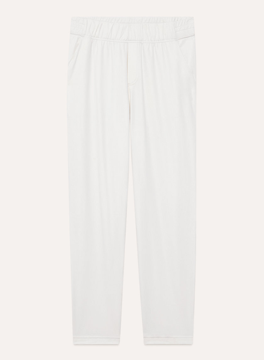 ARITZIA TNA Nevada pants - $30 - Dress it up with these clean white sweats. Comfy and slim-fit.