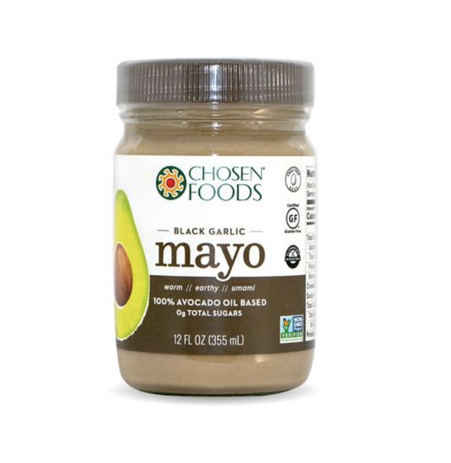 Black Garlic / Regular Mayonnaise - While I am not a mayonnaise fan myself, this was a hit in my home. My husband loved the flavor on hot sandwhiches with a bowl of soup. He didn't even notice a different between this and the generic brands.