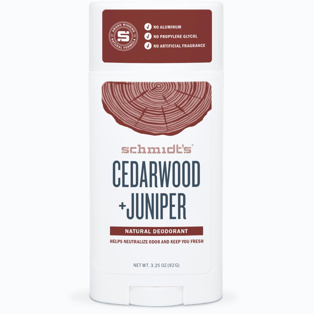Cedarwood + Juniper Deodorant - This is great for both men and women with a rustic floral scent to keep you smelling fresh all day long. We also really like their famous Activated Charcoal Deodorant (or any scent, really). $9