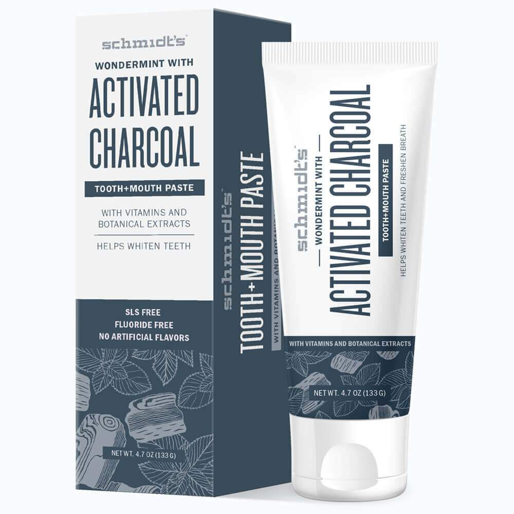 Activated charcoal toothpaste - Whiter teeth and fresh breath made with only the good stuff. You can trust this toothpaste for one of the most important places on your body to keep clean. Also, they have a line of mouthwash to keep your teeth extra sparkly + clean. $6