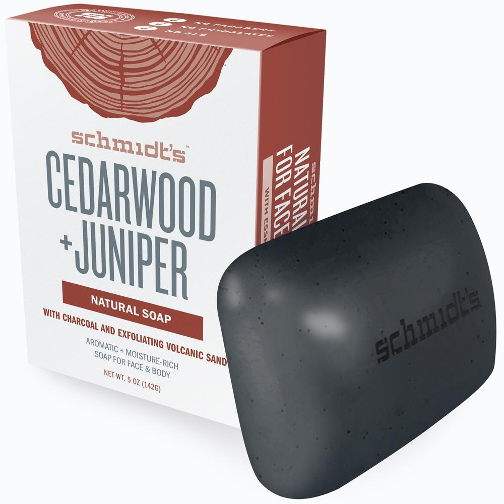 Cedarwood+ juniper Natural Soap - Bar Soap: Reimagined. This is no hotel soap. Infused with charcoal and volcanic sand, you skin will totally be exfoliated with this smooth bar for your face and body. So good that you'll want to add it to your shower routine. $6