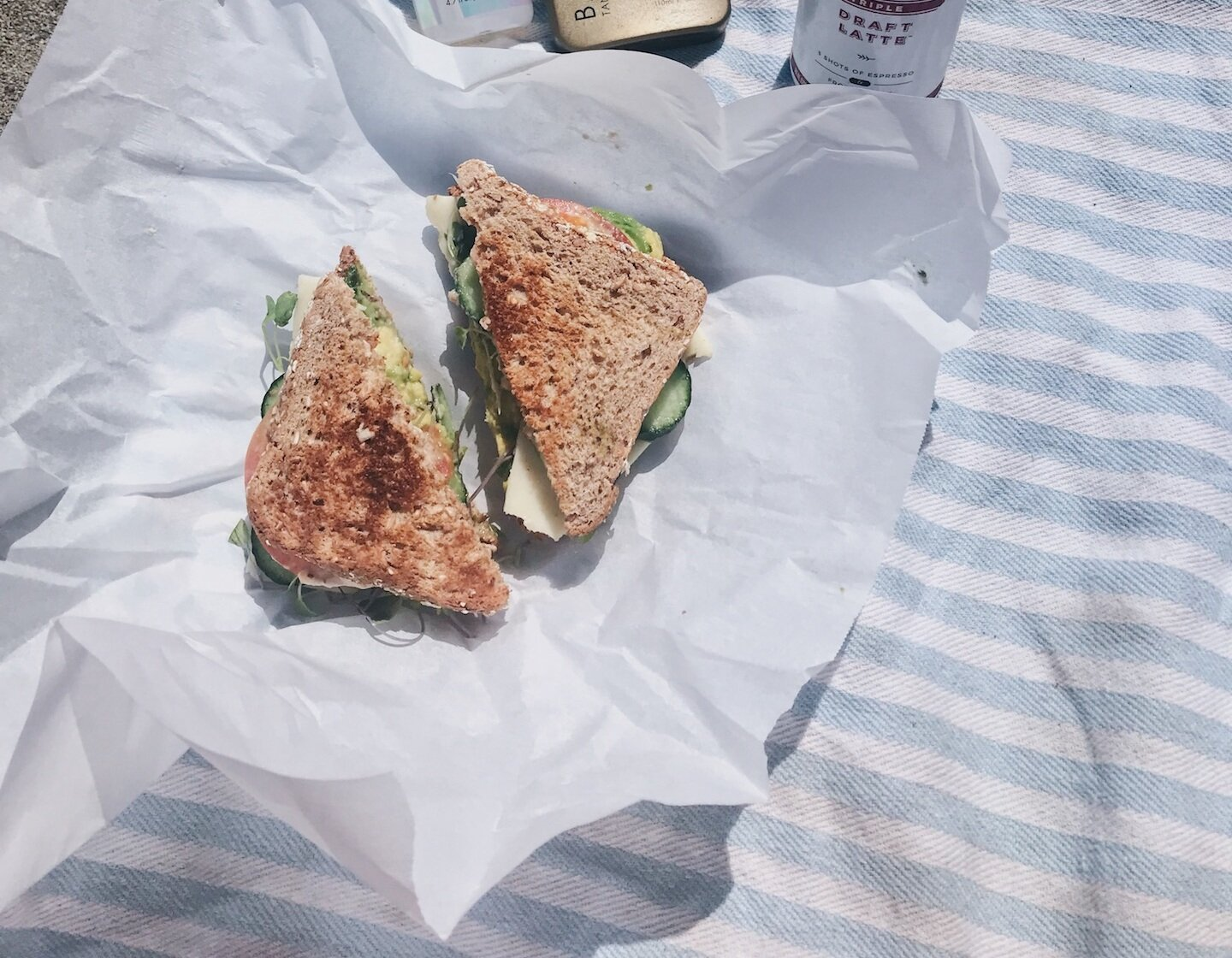 SANDWICH - You're bound to be ready for lunch at some point on your hike, especially on those long treks. Find a scenic place to sit down and enjoy this loaded veggie sandwich and the views.