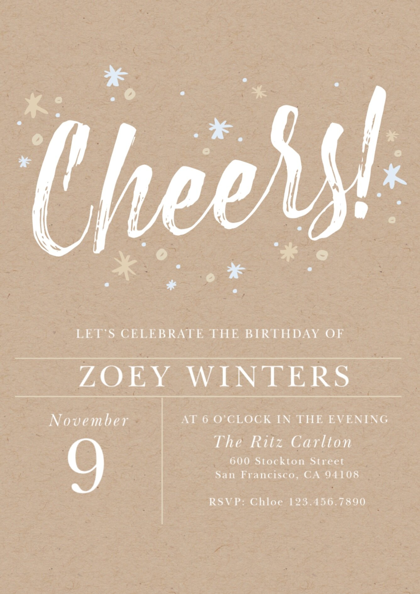 I'm personally loving this modern design for a birthday invite and this cozy Christmas party invite.