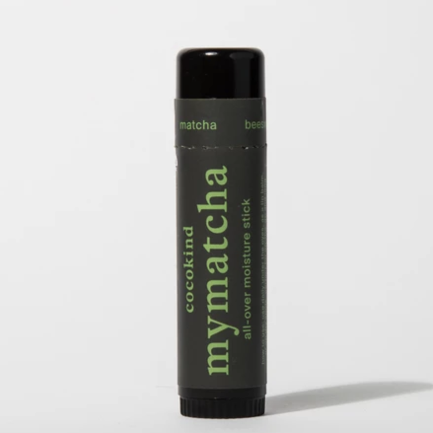 LIP BALM - Don't leave home without your lip balm. This Cocokind matcha stick is great for lips and anywhere that needs a little extra moisture.