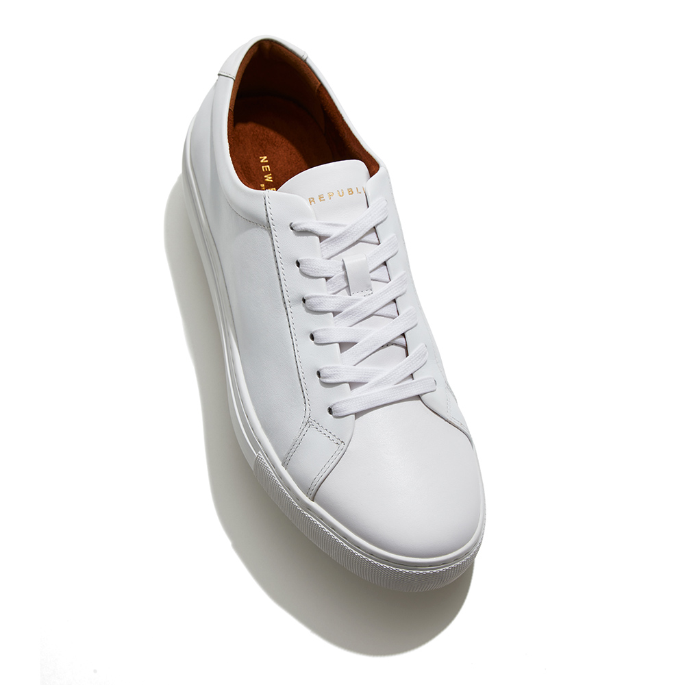 "New Republic ""Kurt"" White Leather Sneakers*"