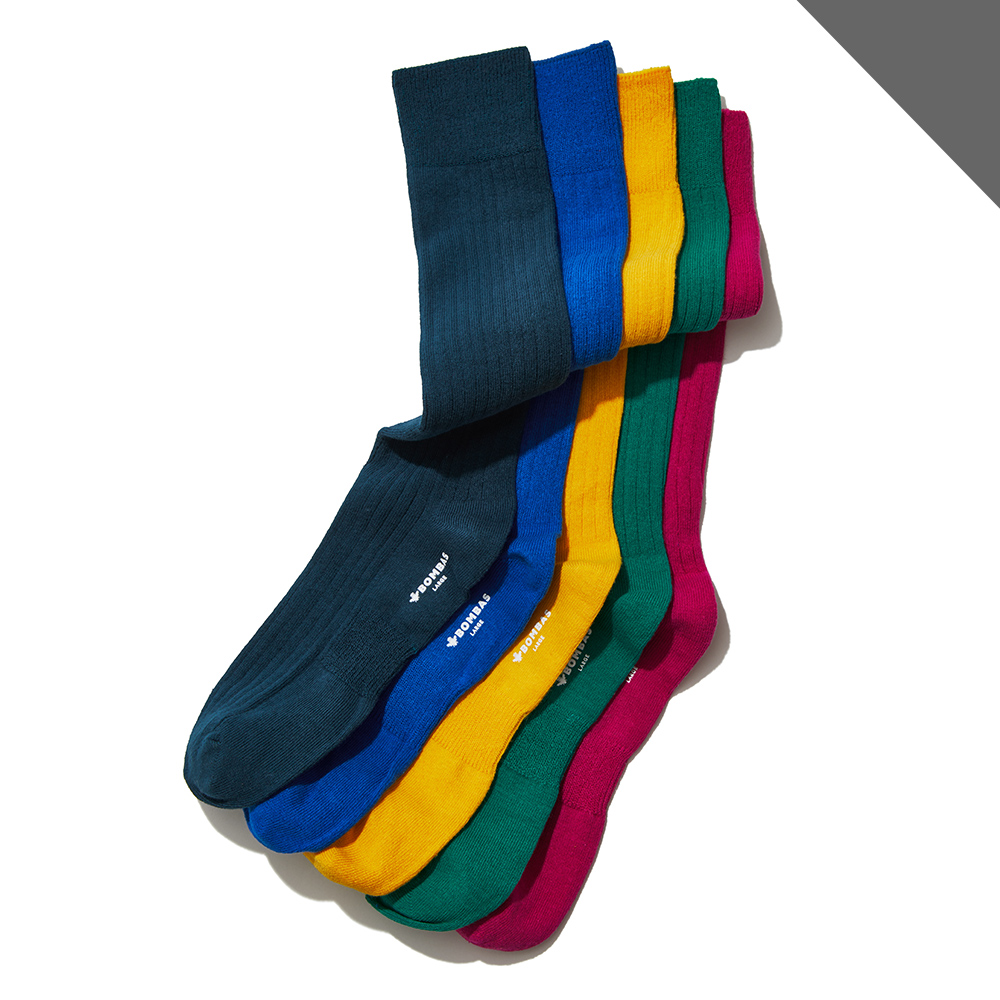 Bombas Ribbed Dress Socks (One pair.)**