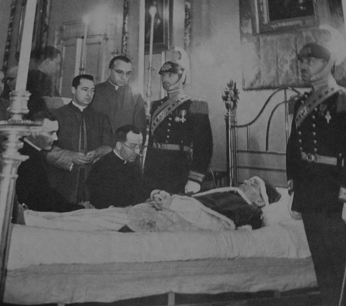 Pope Pius XI on His Deathbed, 1939