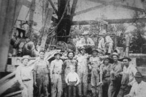 George Strake with Drilling Crew on Well No. 2