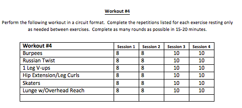 Let us know how the workouts go!