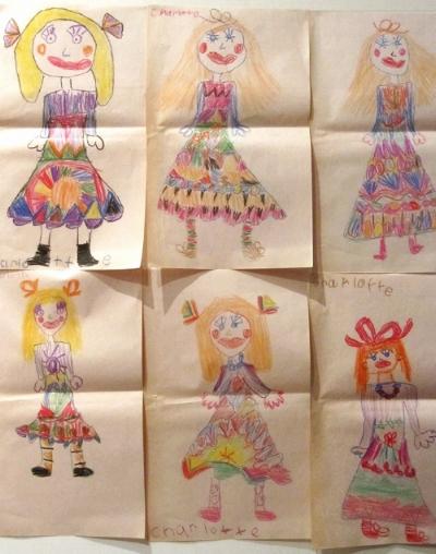 Charlotte's childhood artwork.