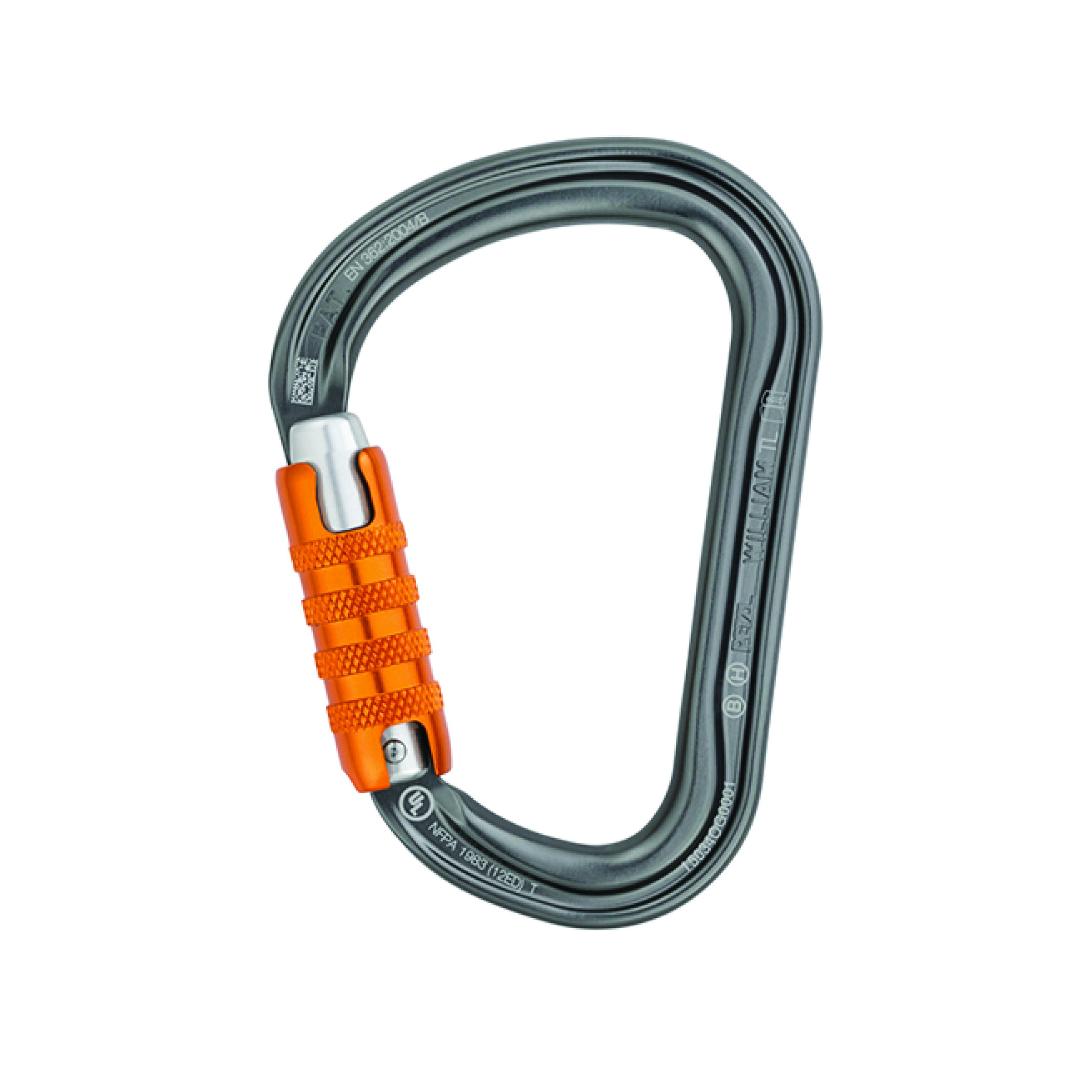 Petzl William H-Frame Carabiner - The lightweight WILLIAM large-capacity asymmetrical carabiner is made of aluminum.