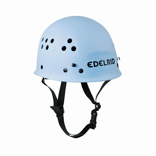 EDELRID ULTRALIGHT HELMET - The Edelrid Ultralight classic helmet has sturdy construction that makes it ideal for institutional use at adventure parks and zipline tours.