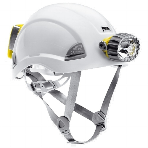 Petzl Vertex Best Duo LED 14 Helmet - The VERTEX BEST DUO LED 14 combines a comfortable helmet for work at height and rescue, with a waterproof hybrid light source (halogen/LEDs).