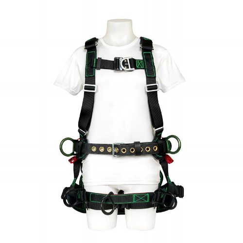 Buckingham Bucktech Tower Harness - Weighing in at approximately 8lbs and loaded with features. The BuckTech is taking tower safety to the next level.