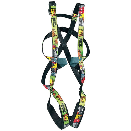 Petzl Simba Youth Full Body Harness - Because small children do not have well-defined hips for a waistbelt to latch onto, this full body harness design is necessary for safety.