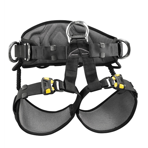 Petzl Avao Sit Fast Harness - The AVAO SIT FAST work positioning and suspension seat harness features wide, semi-rigid waistbelt and leg loops for excellent work positioning.