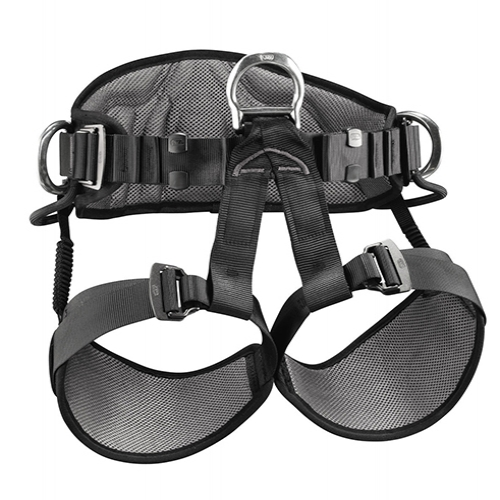 Petzl Avao Sit Harness - The AVAO SIT work positioning and suspension seat harness features wide, semi-rigid waistbelt and leg loops for excellent work positioning.
