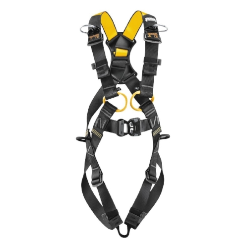 Petzl Newton Full Body Harness - Harness for larger builds, with upper and lower straps that are different colors to facilitate donning.